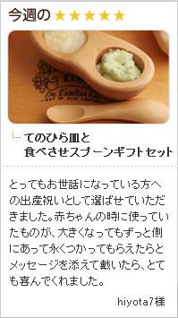 てのひら皿と食べさせスプーン ギフトセット