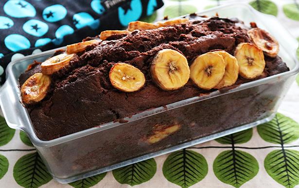 バナナ パウンド ケーキ チョコ