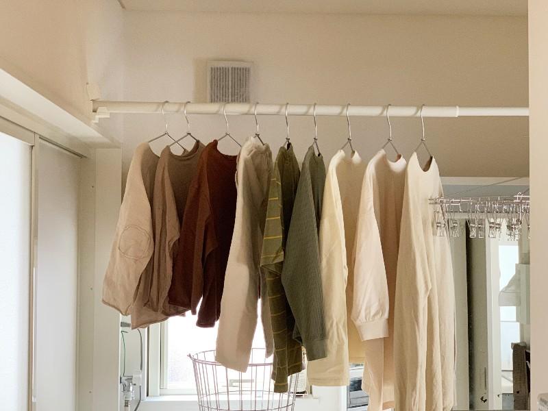 部屋 干し 洗濯